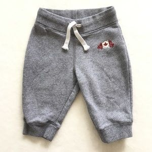 Roots kids sweatpants with velour logo